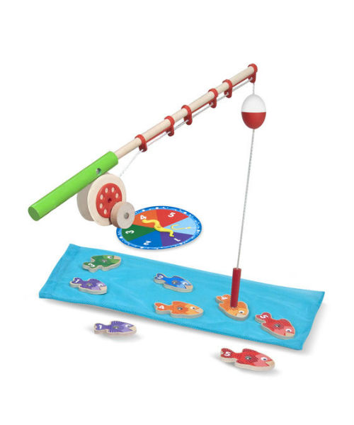 Melissa doug catch count fishing game castillos y for Catch and count fishing game